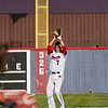 Lewis Cass Kings' Haden McClain (7) catches a pop up during the first inning of a game between the Lewis Cass Kings and Tipton Blue Devils on Wednesday, April 14, 2021 in Walton.