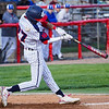 Lewis Cass Kings' David Woolever (27) fouls the ball during the first inning of a game between the Lewis Cass Kings and Tipton Blue Devils on Wednesday, April 14, 2021 in Walton.