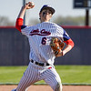 Lewis Cass Kings' Tyson Good (6) throws a pitch during the second inning of a game between the Lewis Cass Kings and Tipton Blue Devils on Wednesday, April 14, 2021 in Walton.