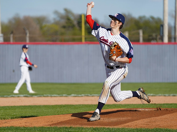 Lewis Cass Kings' Tyson Good (6) throws a pitch during the first inning of a game between the Lewis Cass Kings and Tipton Blue Devils on Wednesday, April 14, 2021 in Walton.