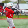 Logansport Berries outfielder Kaiden Lucero (10) swings on a pitch during the first inning of a game between the Logansport Berries and Harrison Raiders on Tuesday, May 4, 2021 in Logansport.