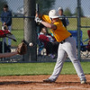 Pioneer Panthers infielder Mason Schnurpel (55) dodges an inside pitch during the second inning of a game between the Pioneer Panthers and Caston Comets on Thursday, April 29, 2021 in Fulton.