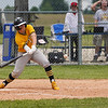 Pioneer Panthers outfielder Gavin Clem (17) swings at a pitch during the fourth inning of the sectional championship between the Southwood Knights and Pioneer Panthers on Monday, May 31, 2021 in Fulton.