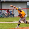 Pioneer Panthers pitcher Brayden Erickson (12) throws during the fifth inning of the sectional championship between the Southwood Knights and Pioneer Panthers on Monday, May 31, 2021 in Fulton.