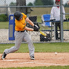 A Pioneer Panthers batter hits the ball during the third inning of the sectional championship between the Southwood Knights and Pioneer Panthers on Monday, May 31, 2021 in Fulton.