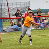 Pioneer Panthers pitcher Brayden Erickson (12) throws to first base during the sixth inning of the sectional championship between the Southwood Knights and Pioneer Panthers on Monday, May 31, 2021 in Fulton.