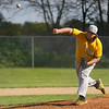 Pioneer Panthers pitcher Brenton Gaumer (52) throws the ball during the third inning of a game between the Pioneer Panthers and Winamac Warriors on Friday, May 14, 2021 in Royal Center.