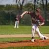 Winamac Warriors pitcher Mitchell Bonnell (2) throws the ball during the first inning of a game between the Pioneer Panthers and Winamac Warriors on Friday, May 14, 2021 in Royal Center.