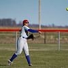 Caston Comets outfielder Layne Oliver (8) throws the ball in during the season opener between the Caston Comets and Carroll Cougars on Friday, April 2, 2021 in Fulton.