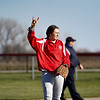 Caston Comets shortstop makes a hand gesture during the season opener between the Caston Comets and Carroll Cougars on Friday, April 2, 2021 in Fulton.