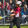 Winamac Warriors' Aubrey Gearhart (16) hits an hits an RBI triple during the first inning of a game between the Caston Comets and Winamac Warriors on Tuesday, May 11, 2021 in Winamac.