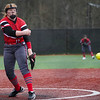 Logansport Berries pitcher Claire Kitchel (12) releases a pitch during the first inning of a game between the Logansport Berries and Pioneer Panthers on Thursday, April 8, 2021 in Logansport.