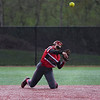 Logansport Berries infielder Pailei Cripe (19) throws to first base during the first inning of a game between the Logansport Berries and Pioneer Panthers on Thursday, April 8, 2021 in Logansport.
