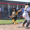 Pioneer Panthers infielder Kylie Farris (2) slides into home plate during the second inning of the semistate championship game between the Fairfield Falcons and Pioneer Panthers on Saturday, June 5, 2021 in Chalmers.