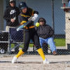 Pioneer Panthers pitcher Hailey Gotshall (15) swings on a  pitch during the second inning of a game between the Pioneer Panthers and Lewis Cass Kings on Thursday, April 22, 2021 in Royal Center.