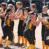 Pioneer Panthers players are introduced before the Class 2A state championship between the Pioneer Panthers and Sullivan Golden Arrows on Saturday, June 12, 2021 in Greenwood.