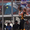 Pioneer Panthers infielder Madison Blickenstaff (14) looks at a foul ball that traveled to the stand during the second inning of the Class 2A state championship between the Pioneer Panthers and Sullivan Golden Arrows on Saturday, June 12, 2021 in Greenwood.