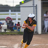 Pioneer Panthers infielder Hailey Cripe (12) claps after getting a walk during the fourth inning of the regional championship between the Wheeler Bearcats and Pioneer Panthers on Tuesday, June 1, 2021 in Valparaiso.