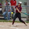 A Winamac Warriors batter swings on a pitch during the first inning of the sectional final between the Pioneer Panthers and Winamac Warriors on Thursday, May 27, 2021 in Winamac.