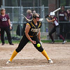 Pioneer Panthers pitcher Hailey Cripe (12) throws the ball during the fifth inning of the sectional final between the Pioneer Panthers and Winamac Warriors on Thursday, May 27, 2021 in Winamac.