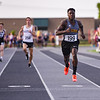Pioneer's Ezra Lewellen  runs to the finish line in the 400 meter run during the boys track and field sectional at Kokomo High School on Thursday, May 20, 2021 in Kokomo.