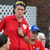 Athletes speak during an Olympic kickoff event at Black Dog Coffee in Logansport on Thursday, July 22, 2021.