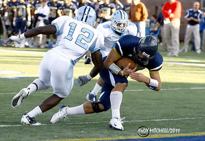 B.J. Coleman scores a touchdown for UTC against The Citadel. Chattanooga TN _ Finley Stadium _ 2011