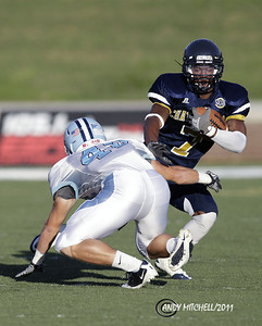 Ron Moore(7) tries to avoid an open field tackle by a Citadel player. Chattanooga TN 2011