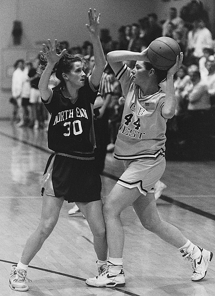 North Penn versus C. B. West Girls Basketball game, 2/7/91. Photos taken by Cristy Rickard—Times Herald Archive.