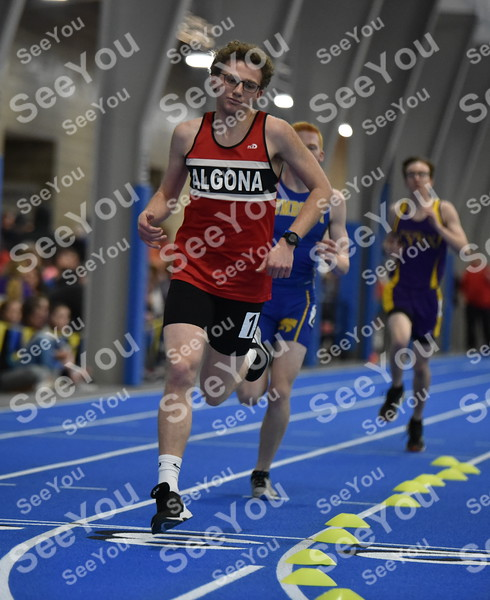 -Messenger photo by Britt Kudla<br /> Trey Enge of Algona compete in the 800 meter run on Friday in Humboldt