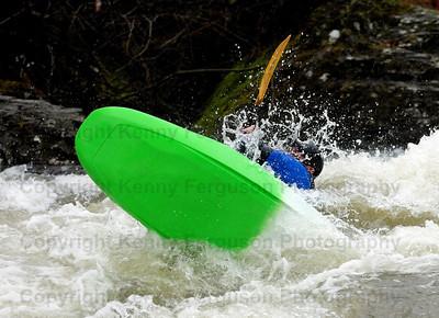 "Kayaks ""roaring mill"" Lochaber Scotland.River Nevis"