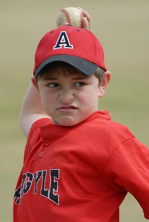 Argyle Red  Baseball - 4/11/09