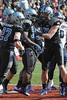 Air Force Tight End #88 Nate Dreslinski congratulates RB #32 Broam Hart on the touchdown.