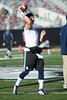 Rice starting QB Taylor McHargue gets warmed up before the game.