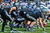 HIde and seek. Air Force QB Connor Dietz gets so low under center he seems to be hiding behind his offensive line.