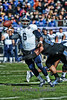 After taking over for injured QB Taylor McHargue, Rice quarterback #6, Driphus Jackson gets the pass away under pressure.