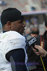 Rice QB #6 Driphus Jackson gives an interview after the big win.