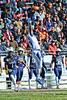 #13 WR Demetrius Frazier leaps for an overthrown pass.