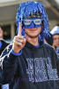 Nate Moorehead showing his Blue Zoo spirit.