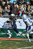 Armed Forces Bowl 2014<br /> Navy fans cheer as SB DeBrandon Sanders scores a touchdown.