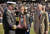 Armed Forces Bowl 2014<br /> Admiral William H. McRaven received the 2013 Bell Helicopter Armed Forces Bowl Great American Patriot Award.  Bowl emcee Scott Murray and Lt. Beneral Garry L. Parks, retired USMC were there to present the award.