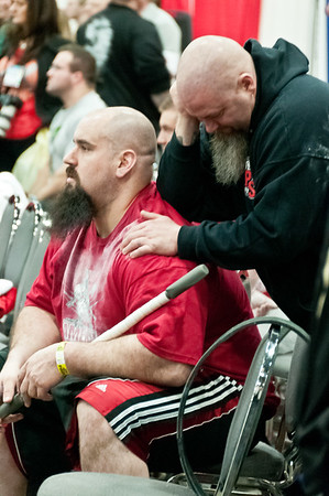 Murph and Eric at the Arnold Amateur Strongman Contest
