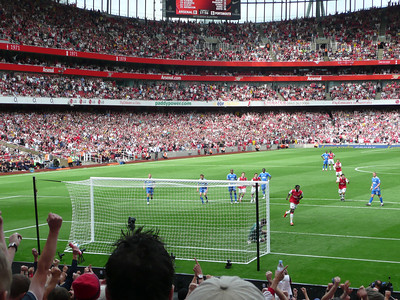 Arsenal vs Pompey, Emirates Stadium, London