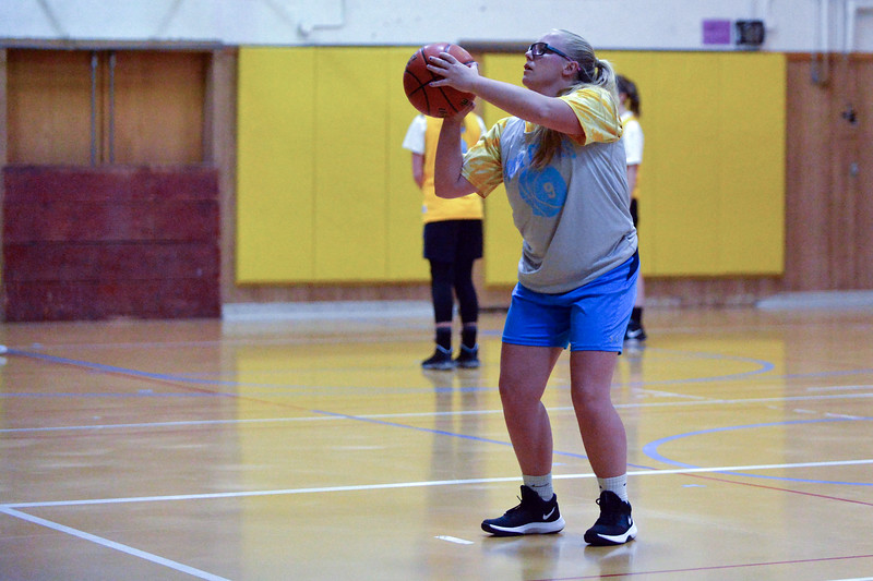 Joel Moline | The Sheridan Press<br /> Arvada-Clearmont's Krista Malli shoots free throws during practice Thursday, Dec. 5, 2019.