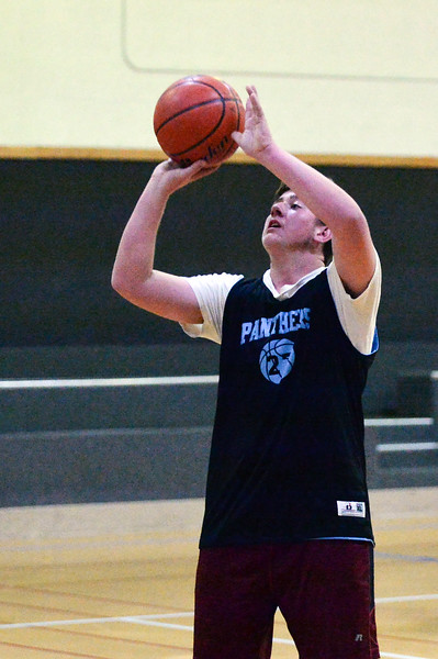 Joel Moline | The Sheridan Press <br /> Arvada-Clearmont's Shelden Malli shoots a jump shot in a drill during practice Thursday, Dec. 5, 2019.