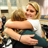 "Ashton Davis, right, gets a hug from her friend, Sophie Junak, at the signing ceremony at Monarch High on Wednesday.<br /> Ashton Davis of Monarch High School has signed with Air Force to play basketball next year.<br /> For a video and more photos of Davis, go to  <a href=""http://www.dailycamera.com"">http://www.dailycamera.com</a>.<br /> Cliff Grassmick / November 9, 2011"