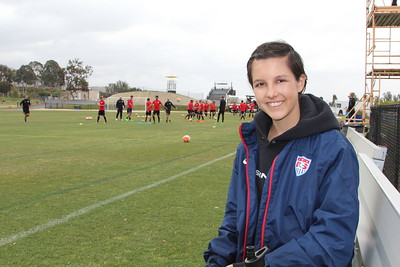 At the USA Men's U18 Soccer Training - April 2016