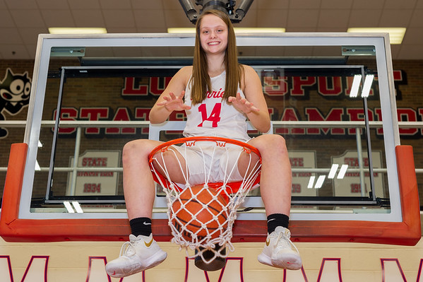 The only way this week's Athlete of the Week, Olivia Pearson of the Logansport Berries says she'd ever be able to dunk the ball. Fran Ruchalski | Pharos-Tribune