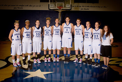 Group photo of womens basketball team at the end of the 2011-12 season.