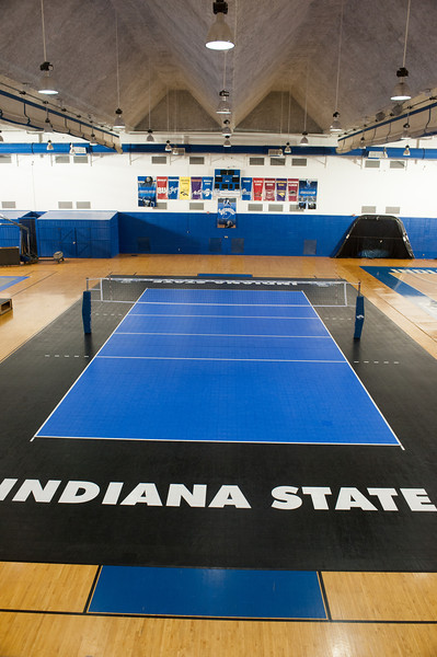 Volleyball court in south gym of Arena